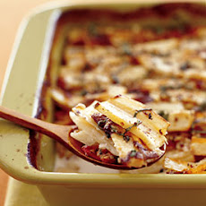 Parsnip and Hazelnut Gratin with Bacon