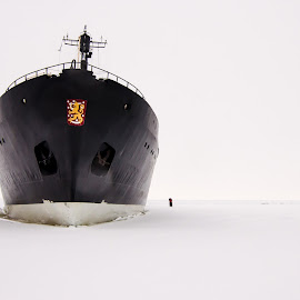 Ice breaker by Tzvika Stein - Transportation Boats ( ice breaker, cold, ice, ship, sampo, boat )