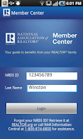 Screenshot of NAR Member Center