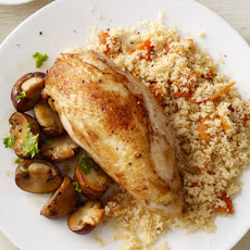 Chicken and Mushrooms With Couscous