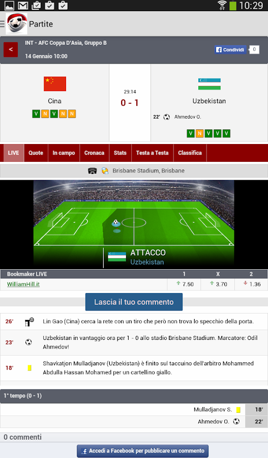 Direttagoal Livescore Diretta App Android Su Google Play