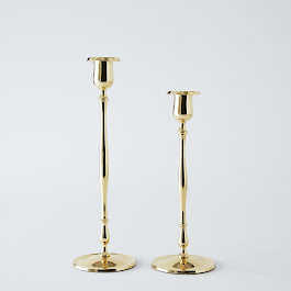 Slim Brass Candlesticks