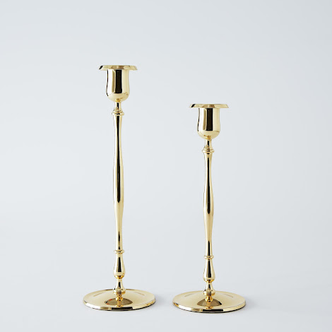 Slim Candlestick in Brass