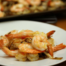Eat for Eight Bucks: Lemon Shrimp with Mustard-Herb Roasted Onions