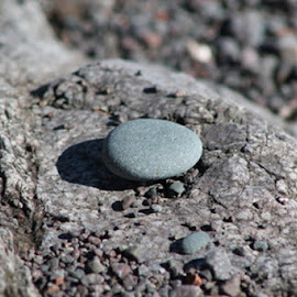 Rock by Terry Moffatt - Nature Up Close Rock & Stone ( round rock, stone, lake, rock, lake rock,  )