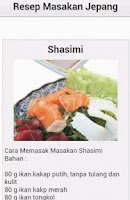 Screenshot of Resep Masakan Jepang