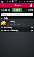 Screenshot of Wync for Lync