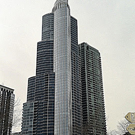 Chicago Skyscraper by Constance S. Jackson - Buildings & Architecture Office Buildings & Hotels ( building, skyscraper, chicago, tall )