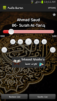 Screenshot of Audio Quran
