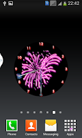 Screenshot of Sparks Analog Diwali Clock