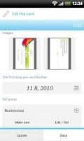 Screenshot of Biz cards viewer Carda Lite