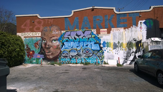 Che_2a provided walls in South Central Los Angeles just East of Arlington on 48th street for 9 artists.