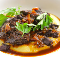 Braised Beef Cheeks With Chorizo And Soft Polenta