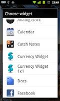 Screenshot of Currency Widget