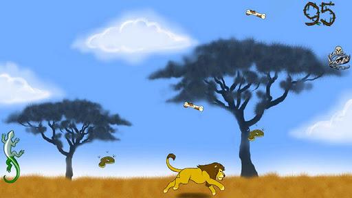 Lion the king of wild savanna