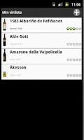 Screenshot of Min vinlista