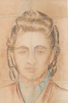 Portrait of Mala Zimetbaum. It was made in the camp by fellow prisoner Zofia Stępień-Bator.