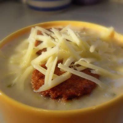 Creamy Potato, Onion and Cheese Soup