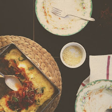 Baked Polenta with Tomato and Basil