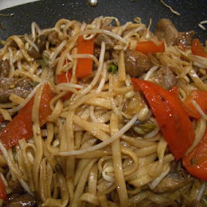 Spicy Orange Lamb and Noodle Stir-Fry