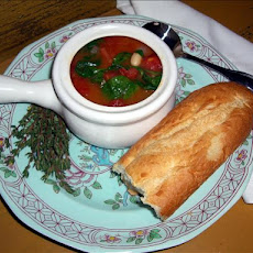 Simple Tomato-Spinach-White Bean Soup