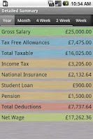 Screenshot of PAYE Tax Calculator (Free)