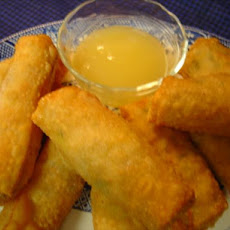 Savory Chicken Egg Rolls  With Sweet and Sour Sauce