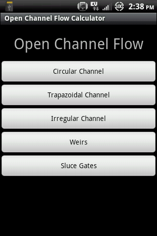 Open Channel Flow Free