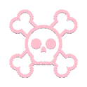 APW Themes: Light Pink Skull icon
