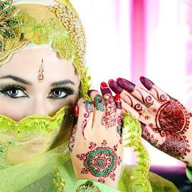 Green Hijab by Ruli Yanto - People Portraits of Women ( portraiture, woman, hijab )