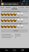 Screenshot of EuroJackpot Nos. & Statistics