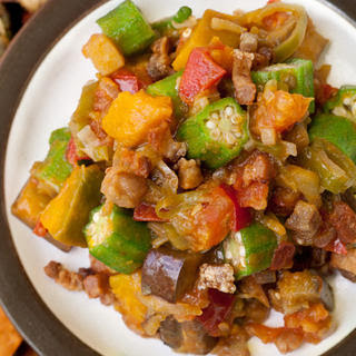 Paul Qui's Pakbet (Pinakbet, Filipino Vegetable Stew)