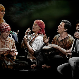 Gypsies  by Dries Fourie - People Musicians & Entertainers
