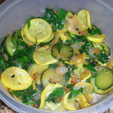 Janet's Sauteed Yellow Squash and Spinach
