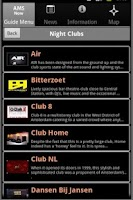 Screenshot of Amsterdam Club Guide