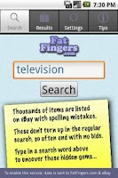 Screenshot of Fat Fingers: for eBay Bargains