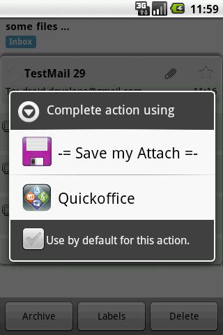 Save my Attach