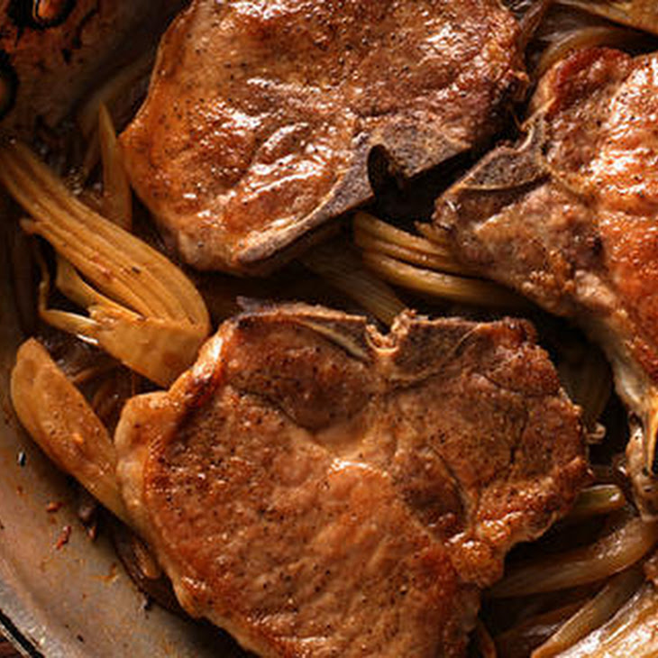 Braised Pork Chops and Fennel