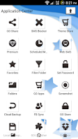 Screenshot of Go SMS Pro Theme Blue Stars