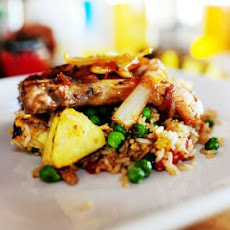 Pork Chops with Pineapple Fried Rice