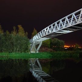 Enniskillen at Night by Adrian Morrisson - Novices Only Landscapes