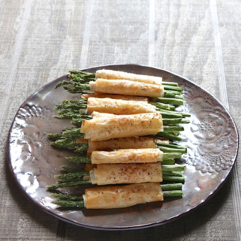 Asparagus Appetizers in Phyllo Dough