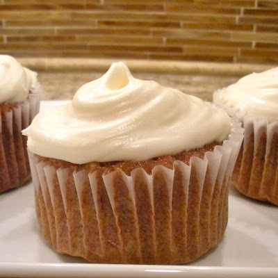 A 24 Carrot Cupcake with Classic Cream Cheese Frosting