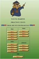 Screenshot of Young Marines Practice Tests
