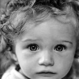Mati by Mila Chorazyczewska - Babies & Children Child Portraits ( girl, black and white, baby, toddler, eyes )