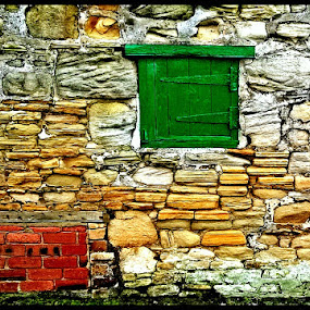 Green by Paul White - Buildings & Architecture Architectural Detail ( green door. )