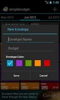 Screenshot of SimpleBudget (Envelope Budget)