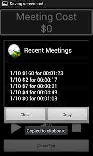 Ex₂ Talking Meeting Cost Timer - screenshot