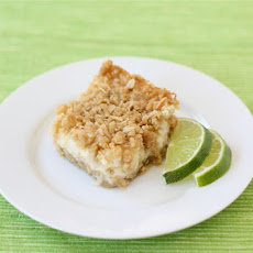 Lime and Coconut Crumble Bars