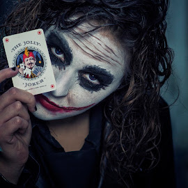 Charlene 4473 by Keith Darmanin - People Body Art/Tattoos ( joker, kitz klikz, makeup, dark, body art, card, batman, keith darmanin, portrait, photography, venere,  )